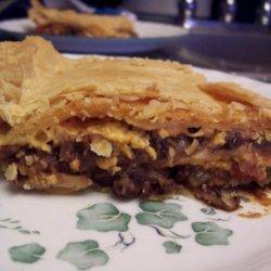 Black Bean and Cheese Tortilla Pie recipe