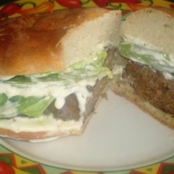 Firecracker Burgers With Cooling Lime Sauce recipe