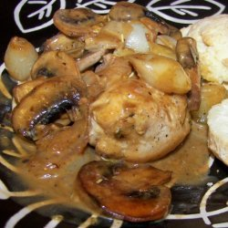 Chicken With Pearl Onion and Cremini Mushroom Sauce recipe