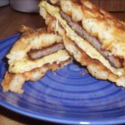 Sausage and Egg Waffle Sandwich recipe