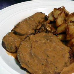 Beef Tenderloin With Mustard Sauce recipe