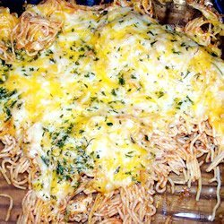 Baked Spaghetti with Chicken recipe