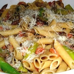 Penne with Asparagus and Mushrooms recipe
