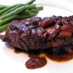 Easy Flat Iron Steak in Wine Sauce recipe