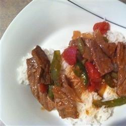 Steak and Rice recipe