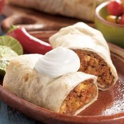 Traditional Beef Burritos recipe