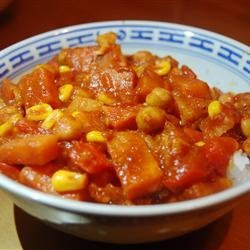 Vegetarian Chickpea Curry with Turnips recipe