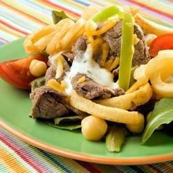 Philly Steak Salad recipe