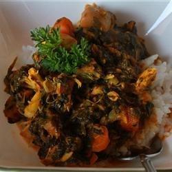 Parsley Spinach Chicken Stew recipe