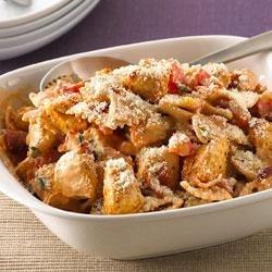 Creamy Chicken, Bacon and Tomato Pasta recipe