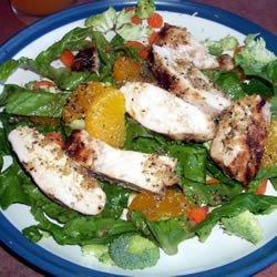 Grilled Orange Vinaigrette Chicken Salad recipe