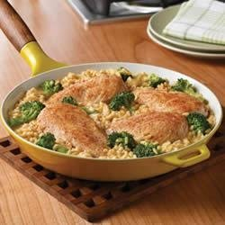 Campbell's(R) Quick and Easy Chicken, Broccoli and Brown Rice Dinner recipe