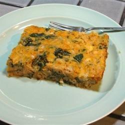 Egg and Spinach Casserole recipe