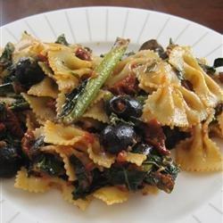 Mediterranean Pasta with Greens recipe