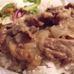 Simply Elegant Steak and Rice recipe