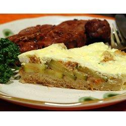 Bread Crust Zucchini Quiche recipe