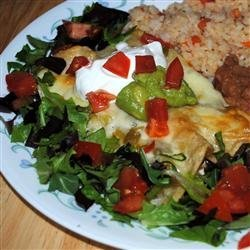 Enchanted Sour Cream Chicken Enchiladas recipe