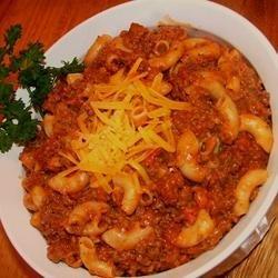 Lori's Beef and Spaghetti Macaroni recipe