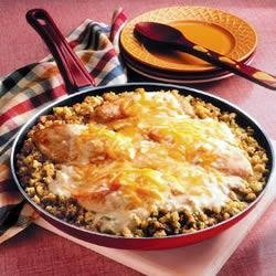 Chicken and Stuffing Skillet recipe