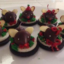 Chocolate Christmas Mice Cookies recipe