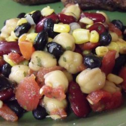 Low Fat, Cheap, and Delicious Three Bean Salad recipe