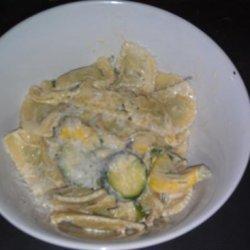 Creamy Ravioli With Squash, Lemon and Chives recipe