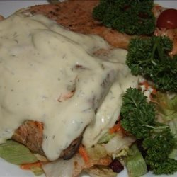 Grilled Salmon With Mustard Dill Sauce recipe