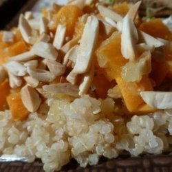Quinoa With Sweet Potato and Mushrooms recipe