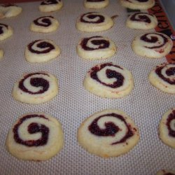 Cranberry Cherry Pinwheel Christmas Cookies recipe