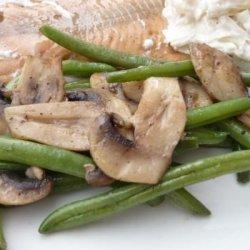 Green Beans With Mushrooms - Diabetic recipe