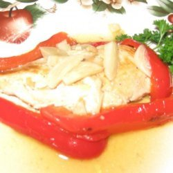 Chicken and Peppers in Garlic Wine Sauce recipe