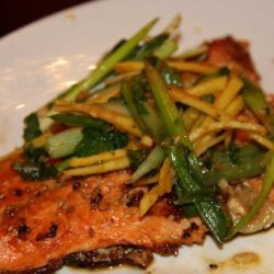 Sesame Crusted Trout With Ginger Scallion Salad recipe