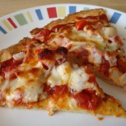 Ham, Cheese, and Tomato Pizza recipe