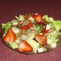 Strawberry Salad With Monterey Jack recipe