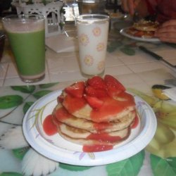 Strawberry Pancakes With Strawberry Syrup recipe