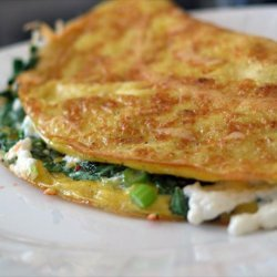 Omelette W/Goat Cheese, Green Onions & Cilantro recipe