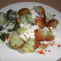 Roasted Potatoes With Artichokes and Feta recipe