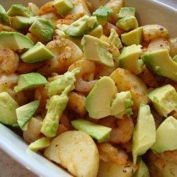 Cajun Potato, Prawn/Shrimp and Avocado Salad recipe