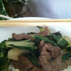 Mongolian Beef and Bok Choy recipe