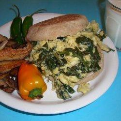 Eggs Florentine Breakfast Menu (Lite-Bleu) recipe