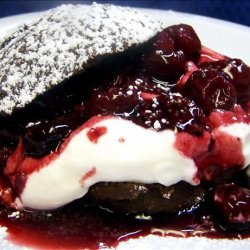 Chocolate Shortcakes With Sour Cherry Topping recipe