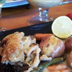 Roasted Chicken With Spring Vegetables and Lemon-Honey Sauce recipe