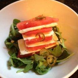 Watermelon and Feta Salad With Serrano Chile Vinaigrette recipe