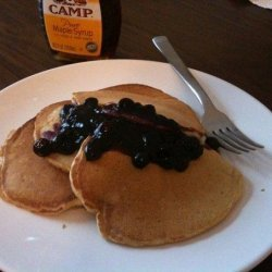 Whole Wheat Pancakes With Blueberry Compote recipe