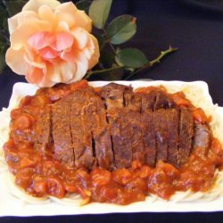 Crock Pot Beef Roast With Tomato Madeira Sauce recipe