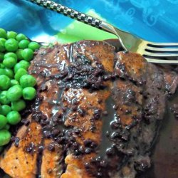 Salmon With Spiced Red Wine Sauce recipe