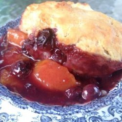 Old Fashioned Peach & Blueberry Cobbler recipe