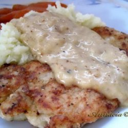 Fried Chicken With Peppery Gravy recipe