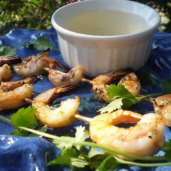 Skewered Tiger Prawns With Honey-Lime Butter recipe