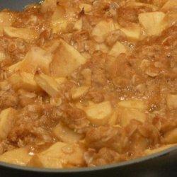 Canadian - Apple Maple Crumble Pie recipe
